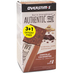 OVERSTIM.s Authentic Boîte De Barres 3+1 x 65g, chocolate peanuts